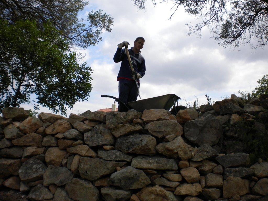 Restoring old stone walls