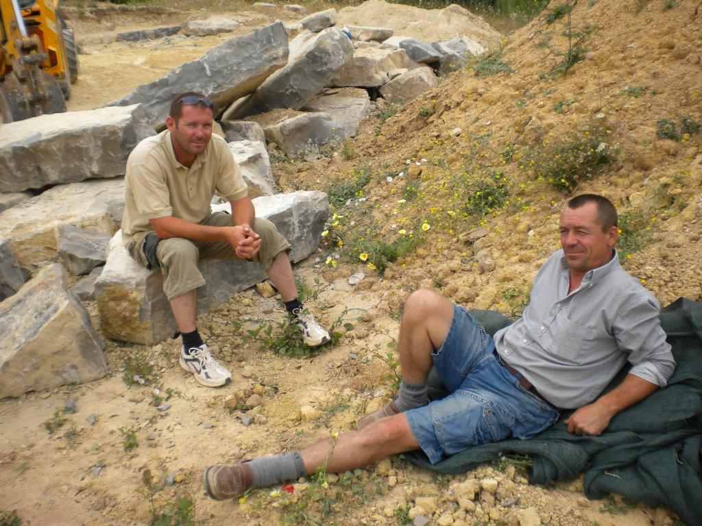 The stone wall builders